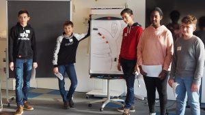 Team KGS Apfelbaum bei der Präsentation des Forschungsprojekts